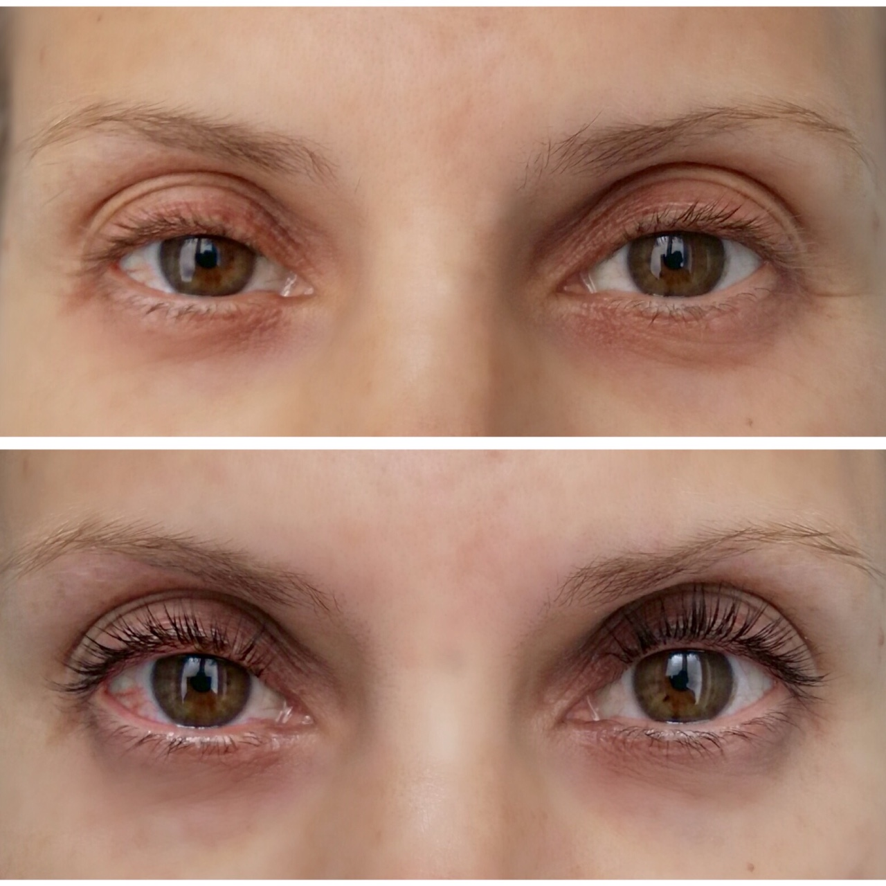 before and after lash curling